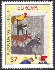 Austria 1997 EUROPA/ASINO/Cane/Gatto/GALLETTO/Animali/STORIE DI FATA 1v (n37956)