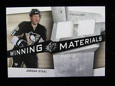 2008 SPX Jordan Staal winning materials dual jersey card  jsy  Penguins