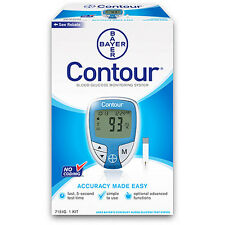 Bayer Contour Blood Glucose Monitoring System No Coding  Blue Color + 10 Strips
