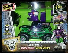 Bright F/F Monster Jam Bursts Grave Digger RC Vehicle 1:24 Scale