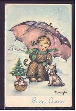 Cartolina Buon Anno Illustratore Mariapia Y378