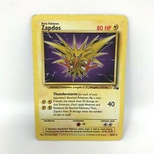 Zapdos 30/62   Fossil Set   Moderate Played Condition