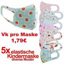 Kinder  Maske  5 x 3 D VK Pro Stück 1,79 Stoffmaske Waschbar - diverse Muster