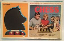 Vintage 1967 BAR-ZIM Learner's CHESS The Easy Way Game Set RARE Complete