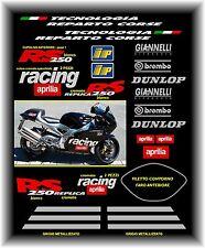 Kit adesivi moto APRILIA REPLICA RS 250 Racing -cromati-Tecnologia Reparto Corse