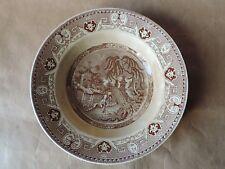 Tres ancienne assiette creuse YEDDO U&C Sarreguemines décor japon