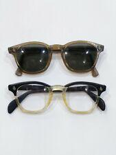 American Optical AO Sunglasses Vintage Horn Rimed Glasses Clear Black Lot 2 Pair