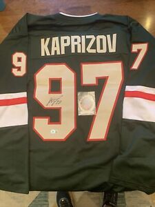 ROY MN Wild Kirill Kaprizov Signed jersey XL.  Perfect for Framing. Never Worn