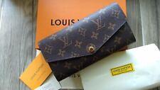 Louis Vuitton Wallet Monogram Canvas LV Brown Women Long Purse Authentic NEW