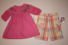 NWT Girls GUESS Pink Shirt & Flapdoodles Shorts Size 6X