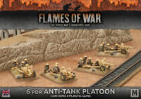 Flames of War 4th Edition British 6pdr Anti-tank Platoon FOW BBX38