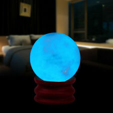 35MM Blue Luminous Quartz Crystal Sphere Ball Glow In The Dark Stone With Base A