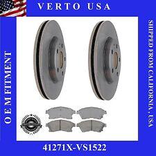 Verto USA Set Of 2 Front Brake Rotors & Pads  fit Chevrolet Cruze, Sonic