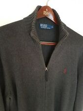Mens POLO by RALPH LAUREN full zip Jumper/Sweater size large/XL. RRP £145.