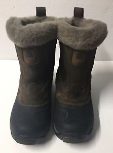The North Face Brown/black  Snow Boots, Slip On , Sz. 7