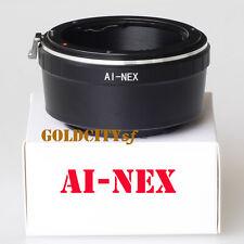 Nikon D/F/S AI to Sony E NEX NEX-3 NEX-5 NEX6 Nex7 Camera Adapter F Mount AI-NEX