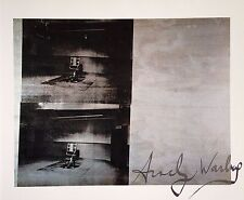 ANDY WARHOL HAND SIGNED SIGNATURE * DOUBLE SILVER DISASTER *  PRINT  W/ C.O.A.