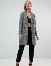 Para mujer Parisian de invierno cálido abrigo de comprobación de Calce Ajustado Talla 8