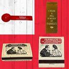 Lot of 1970s 1980s Farrell's Ice Cream Scoop Matchbook & Matchbox + Pig Ribbon