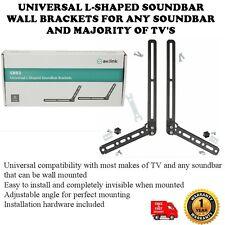Universal Barra de sonido en forma de L-Soportes de pared para cualquier barra de sonido y mayoría de TV