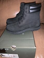 """NIB Timberland Waterville 6"""" Black Women's Boot 0A15QY001 - right 8 / left 7.5"""