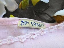 CONLEY's ✿⊱╮Trägertop Top T-Shirt Sommertop Pullunder Häckelborte rosa 36 38 S