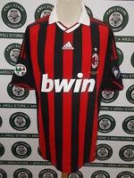 maglia calcio shirt maillot trikot camiseta MILAN GATTUSO TG XL 2009/10 SIGNED