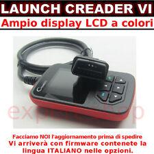 PALMARE DIAGNOSI LCD TUTTE LE AUTO CREADER VI 6 ITA SCANNER OBD2 LAUNCH MANUALE