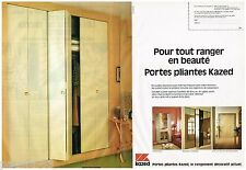 PUBLICITE ADVERTISING 095  1980  Les portes pliantes KAZED  (2 pages)