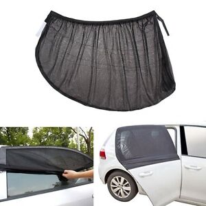 2Pcs Car Side Rear Window Sun Visor Shade Mesh Cover Sunshade Protector L