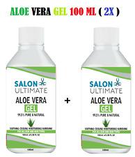 2X Aloe Vera Gel 100% Pure Natural Organic Skin Care Body Super Concentrated UK*
