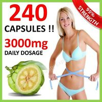 240 CAPSULES ◆ GARCINIA CAMBOGIA PILLS UK SLIMMING DIET PURE WEIGHT LOSS 3000mg