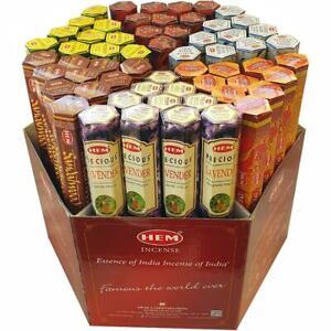 20g Incense  Sticks Hem Kamini  Indian Brands 100+ Scents Hexagon Boxes