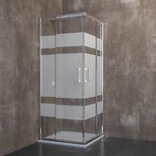 Box doccia cabina rettangolare quadrato cristallo 6mm porta scorrevole angolare