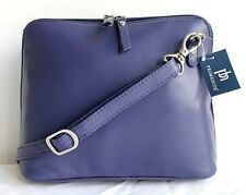 Leather Cross Body Shoulder Handbag with Adjustable Strap * Prime Hide * Purple
