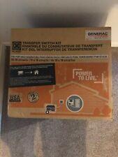 Generac Model 6295 Manual Transfer Switch L14-30 10- 16 Circuits Brand New!