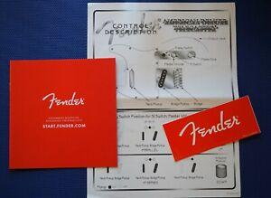 Fender Telecaster American Deluxe Control Description and Fender RED ACCESSORY