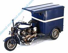 MOTO CARRO DECORACION VINTAGE  METAL AZUL 40X15X19 CMS 46990 IT