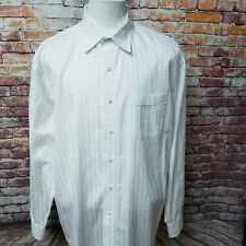 TOMMY BAHAMA MEN STRIPED COTTON LONG SLEEVE DRESS SHIRT SIZE17 1/2 34/35 A80-13