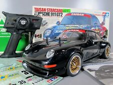 Rare Tamiya 1/10 RC Porsche 911 GT2 Taisan Starcard TA02SW Futaba ESC 58172 Box
