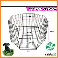 "36"" 8 PANEL PET DOG PUPPY PLAYPEN FOLDABLE METAL WIRE EXERCISE ANIMAL CAGE FENCE"