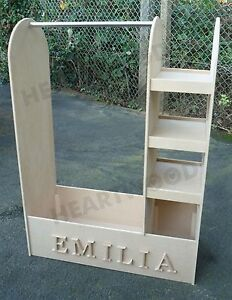 SALE Dressing up stand 1000mm high/Hanging railL/3 Shelf Bookcase/7 free letters