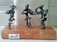 Vintage Sterling Silver Ben Zion Israel Fiddler & Dancers Figurine Statue
