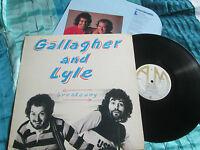 Gallagher & Lyle Breakaway AMLH 68348 UK + Inner Lyric Sheet UK Vinyl LP Album