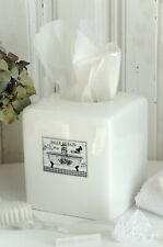 Kleenex Box Keramik Badezimmer Salle de Bain weiß Shabby Landhaus Vintage