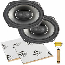 "Polk Audio MM692 900W 6"" x 9"" 3-Way Coaxial Car Speakers w/ Sound Deadening Kit"