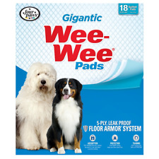 Four Paws Gigantic Wee-Wee Pads 27.5-Inch by 44-Inch 18-Pack House Training Dog