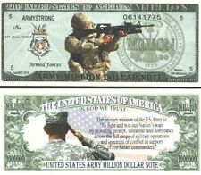 NEW Commemorative US ARMY Million Dollar ARMY STRONG Novelty Bill USA SELLER