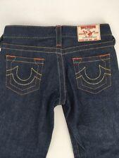 TRUE RELIGION Bobby FLARE DENIM jeans YOUTH GIRLS size 8 NWOT DARK WASH #K800