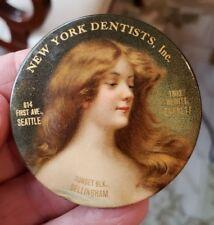 Early 1900's NEW YORK DENTISTS, Bellingham Pocket Advertising Mirror